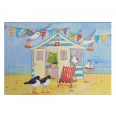 Puzzle 500 pièces : Emma Ball : Cabane de plage
