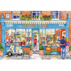 Puzzle 500 pièces : La boutiques des années 60