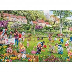 Puzzle 500 pièces : La chasse aux oeufs de Pâques