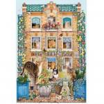 Puzzle 500 pièces : La maison des chats