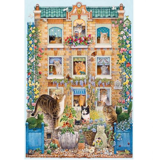 Puzzle 500 pièces : La maison des chats - Gibsons-G3094