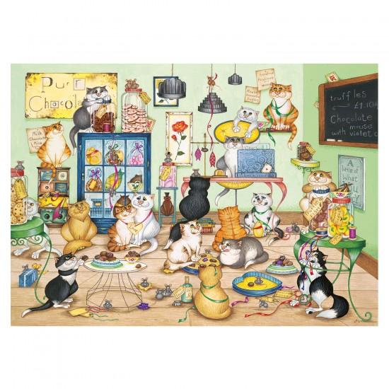 Puzzle 500 pièces : Les chats et le chocolat - Gibsons-G3405