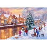 Puzzle 500 pièces : Noël à Bourton