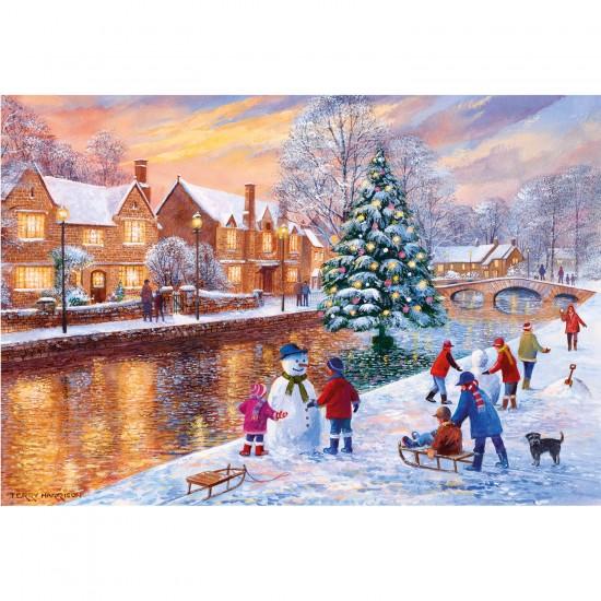 Puzzle 500 pièces : Noël à Bourton - Gibsons-G3088