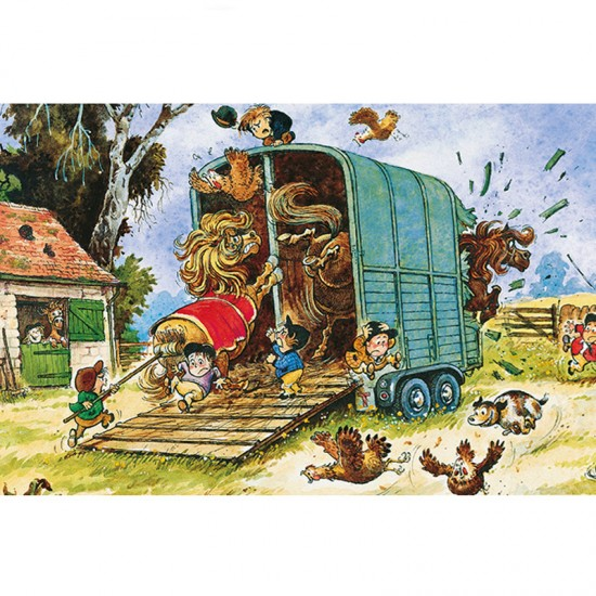 Puzzle 500 pièces : Norman Thelwell : Boxing Up - Gibsons-G3086