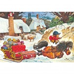 Puzzle 500 pièces : Norman Thelwell : Noël