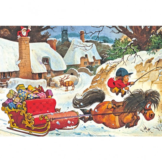 Puzzle 500 pièces : Norman Thelwell : Noël - Gibsons-G3090