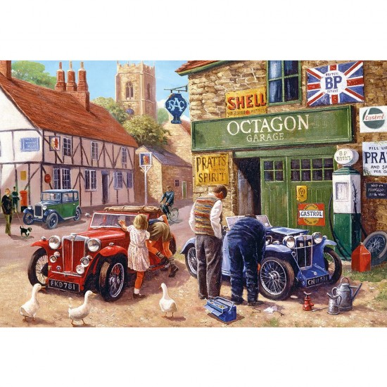 Puzzle 500 pièces : Octagon Garage - Gibsons-G3089