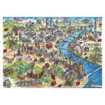 Puzzle 500 pièces : Plan de Londres