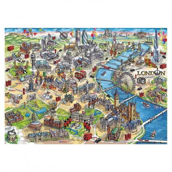 Puzzle 500 pièces : Plan de Londres - Gibsons-G3402