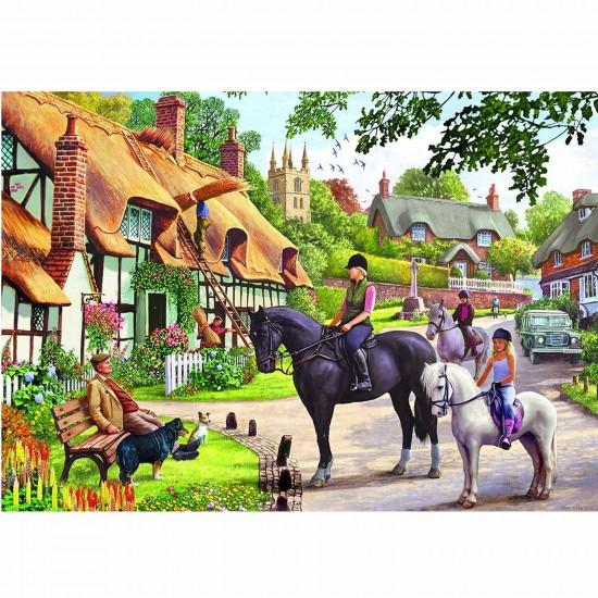 Puzzle 500 pièces : Promenade à cheval - Gibsons-G3056