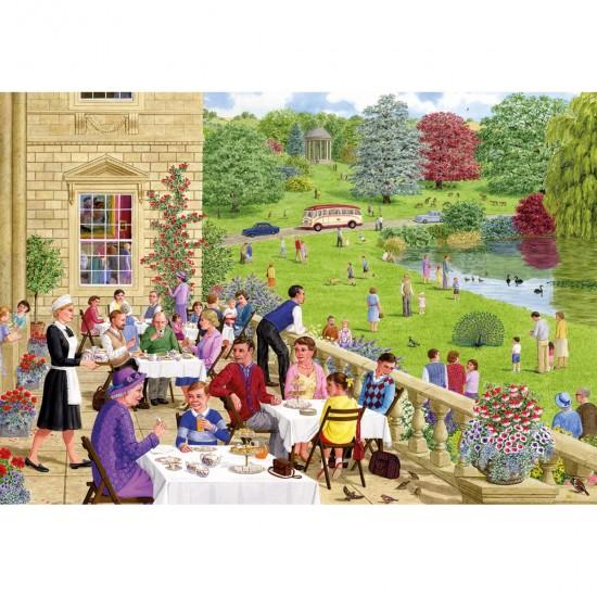 Puzzle 500 pièces : Thé sur la terrasse - Gibsons-G3084