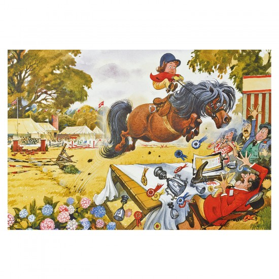 Puzzle 500 pièces : Thelwell : Course hippique - Gibsons-G3408