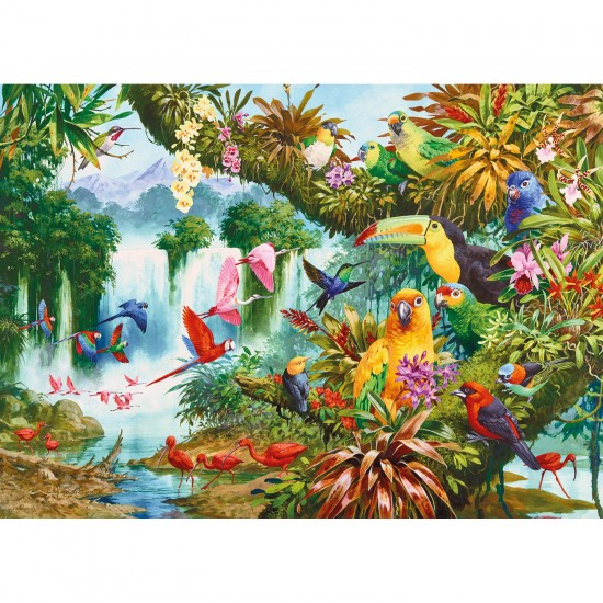 Puzzle 500 pièces XXL : Amis exotiques - Gibsons-G3514