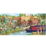 Puzzle 636 pièces panoramique - Déjeuner à l'auberge du cygne