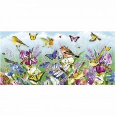 Puzzle 636 pièces panoramique  : Envolée printanière