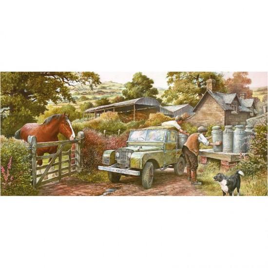 Puzzle Panoramique 636 pièces : Compagnons de campagne - Gibsons-G4029