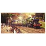 Puzzle panoramique 636 pièces : Philip D Hawkins : Passage du Cornish Riviera Express