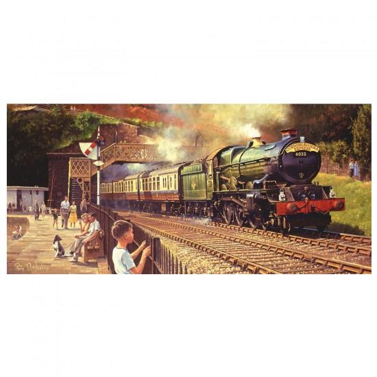Puzzle panoramique 636 pièces : Philip D Hawkins : Passage du Cornish Riviera Express - Gibsons-G4030