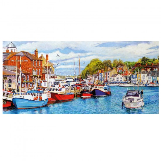Puzzle panoramique 636 pièces : Roger Neil Turner : Port de Weymouth - Gibsons-G4033