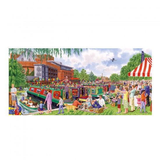 Puzzle panoramique 636 pièces : Sarah Adams : Festival au bord de l'eau - Gibsons-G4034