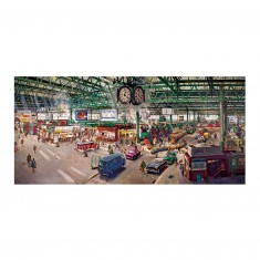Puzzle panoramique 636 pièces : Terence Cuneo : Gare de Waterloo