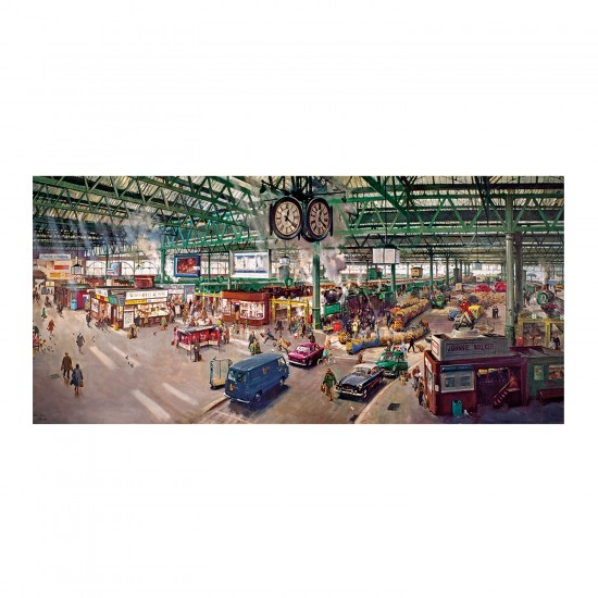 Puzzle panoramique 636 pièces : Terence Cuneo : Gare de Waterloo - Gibsons-G4032
