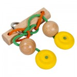 Casse-tête en bois et cordes : Force jaune
