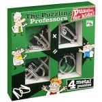 Casse-têtes en métal x 4 Professor Puzzle : Junior