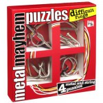 Casse-têtes en métal x 4 Professor Puzzle  :  Série Difficile