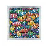 Puzzle 64 pièces magnétique : Méga 3D : Poissons clowns