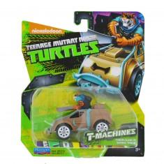 Figurine + Véhicule Tortues Ninja T-Machines : Tiger Claw in Safari Truck