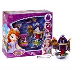 Bijoux Princesse Sofia : Amulette avec mini figurines