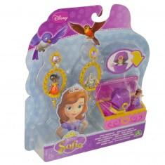 Bijoux Princesse Sofia : Bagues et boucles d'oreilles avec mini figurines : Boîte violette