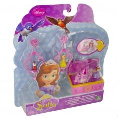 Bijoux Princesse Sofia : Bagues et boucles d'oreilles avec mini figurines : Château rose