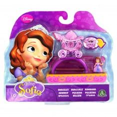 Bijoux Princesse Sofia : Bracelet avec mini figurine : Carrosse