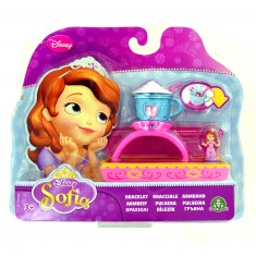 Bijoux Princesse Sofia : Bracelet avec mini figurine : Tasse