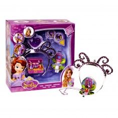 Bijoux Princesse Sofia : Couronne et collier avec mini figurines