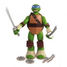 Figurine articulée Tortues Ninja 12 cm et accessoires : Leonardo