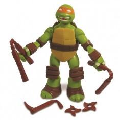 Figurine articulée Tortues Ninja 12 cm et accessoires : Michelangelo