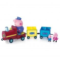 Figurine Peppa Pig : Le train de Papy Pig