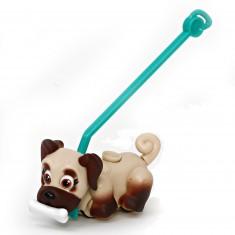 Figurine Pet Parade : 1 chien avec os et laisse : Bulldog