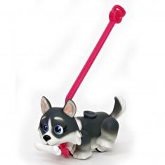 Figurine Pet Parade : 1 chien avec os et laisse : Husky