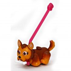 Figurine Pet Parade : 1 chien avec os et laisse : Yorshire