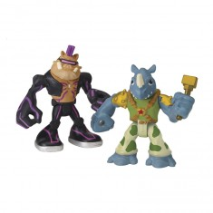 Figurine Tortues Ninja Half-Shell Heroes : Bebop et Rocksteady