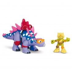 Figurine Tortues Ninja Half-Shell Heroes : Stegosaure et Michelangelo