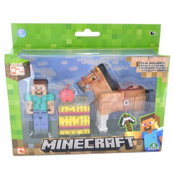 Coffret Minecraft Steve et cheval marron de Giochi