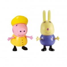 Figurines Peppa et Richard le lapin
