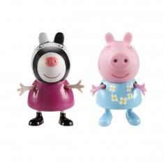 Figurines Peppa et Zoé le zèbre