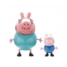 Figurines Peppa Pig : Papa Pig et Georges